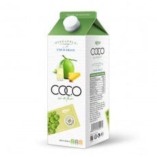 1L Paper Box Coconut Water with Jelly Pineapple Flavor