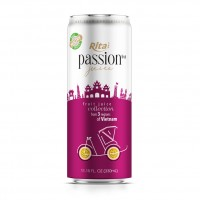 320ml Canned Pure Passion Fruit Juice