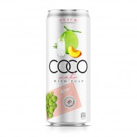 330ml Canned Coconut Water with Peach Flavor