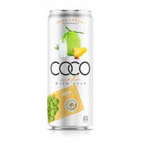 330ml Canned Coconut Water with Pineapple Flavor