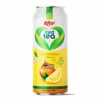 500ml Alu Can Lemon Honey Flavor Iced Tea Drink