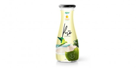 Coconut-water-1L Glass-bottle with Pineapple