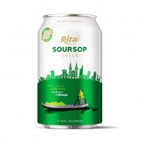 High Quality 330ml Canned Fresh and Pure Soursop Juice