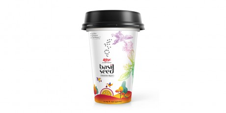 PP Cup 330ml Basil Seed With Passion Fruit