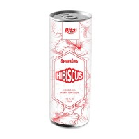 Sparkling Hibiscus Drink 250ml Can Rita Brand