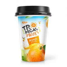 Tropical fruit Orange juice PP cup 330ml