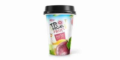 Tropical fruit passion juice PP cup 330ml